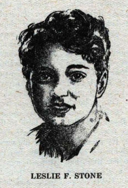 Pencil image of Leslie F. Stone